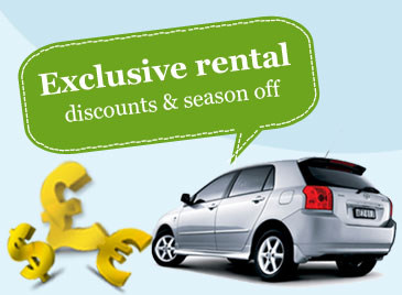 Exclusive Rental Discounts & Season off